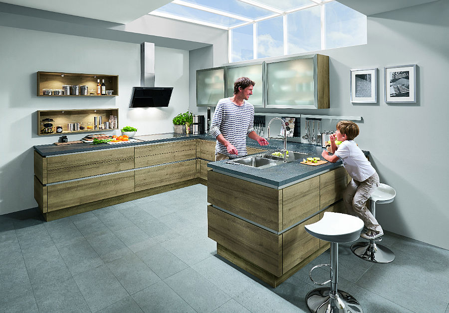 Moderne Holzoptik Kuchenplaner Magazin