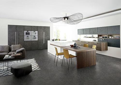 Kochinsel mit integriertem Esstisch: Küchenplaner Magazin
