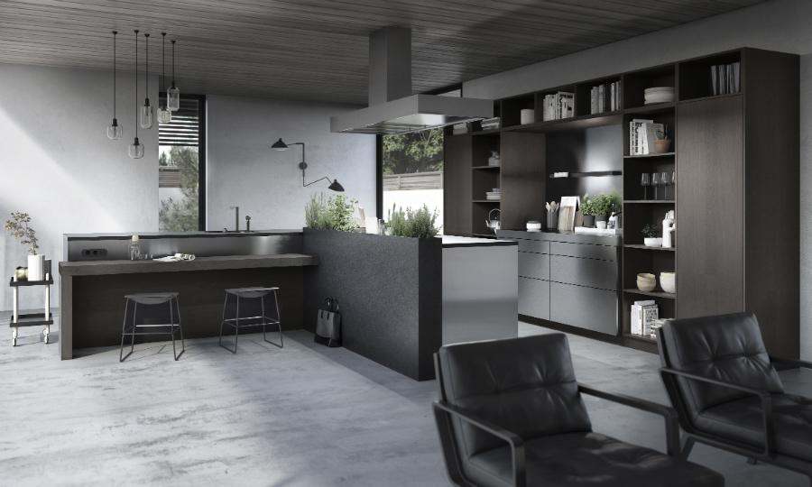 mit solit ren kombiniert k chenplaner magazin. Black Bedroom Furniture Sets. Home Design Ideas