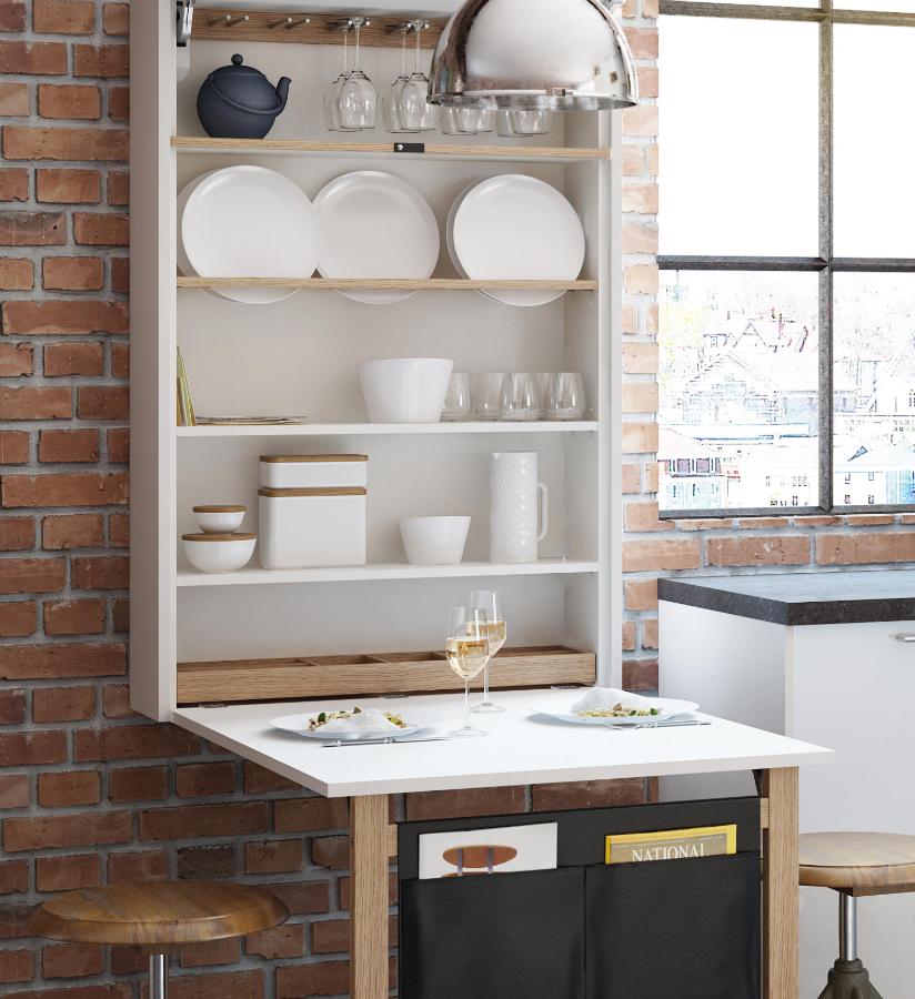 viel platz auf wenig raum k chenplaner magazin. Black Bedroom Furniture Sets. Home Design Ideas