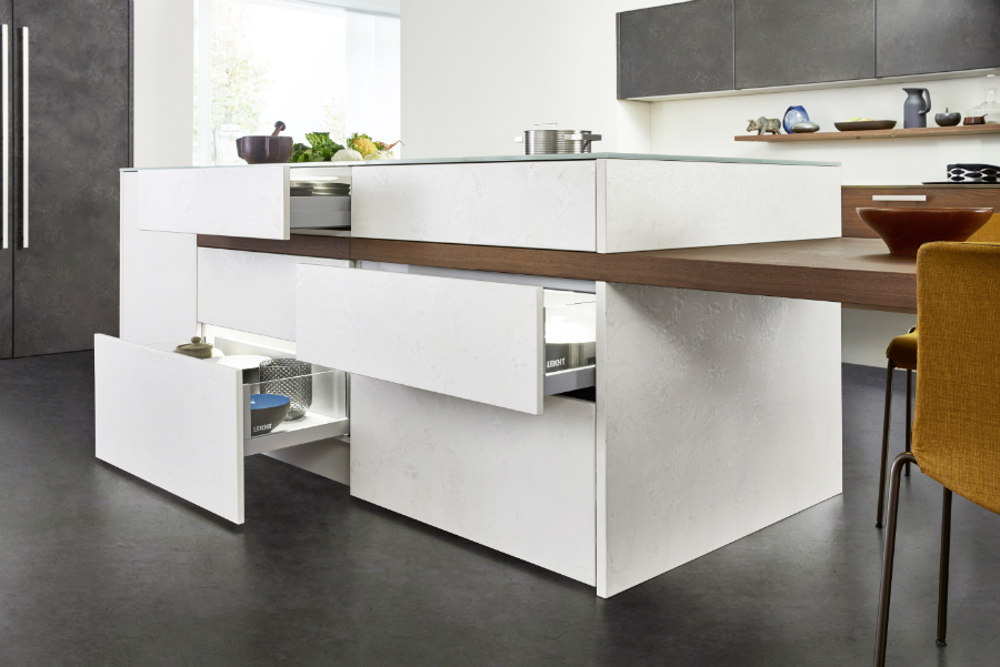 Favorit Kochinsel mit integriertem Esstisch: Küchenplaner-Magazin LG24