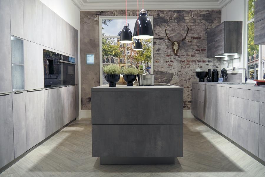 wellmann k chen grifflos. Black Bedroom Furniture Sets. Home Design Ideas