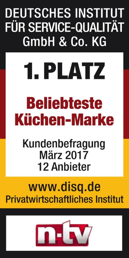 """Nolte Küchen Erneut """"Deutschlands Beliebteste Küchenmarke"""