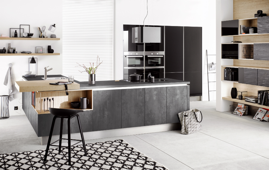h cker macht mehr in beton k chenplaner magazin. Black Bedroom Furniture Sets. Home Design Ideas