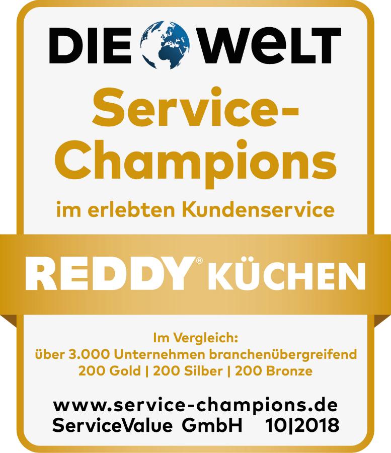 Kuche Co Und Reddy Erneut Als Service Champions Ausgezeichnet