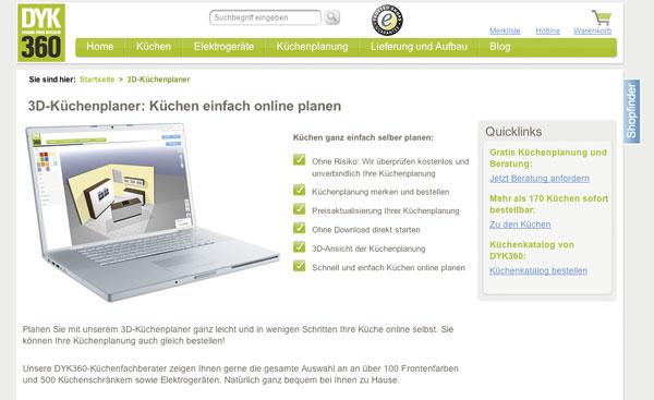 Holprige Online-Planung: Küchenplaner-Magazin
