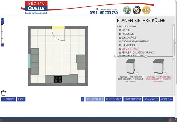 holprige online planung k chenplaner magazin. Black Bedroom Furniture Sets. Home Design Ideas