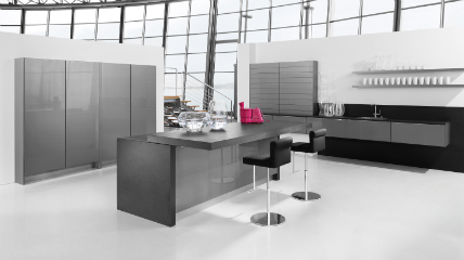 Häcker setzt auf Lavagrau in allen Programmen: Küchenplaner ...
