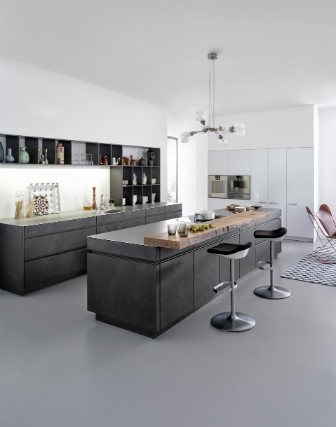 k chenfronten im markanten beton look k chenplaner magazin. Black Bedroom Furniture Sets. Home Design Ideas