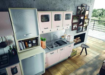 50er jahre in rosa k chenplaner magazin. Black Bedroom Furniture Sets. Home Design Ideas